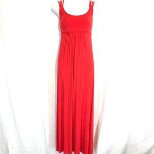 CALVIN KLEIN Bright Orange Maxi Sleeveless Dress 6